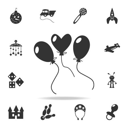 Party balloon icon. Detailed set of baby toys icons. Premium quality graphic design. Çizim