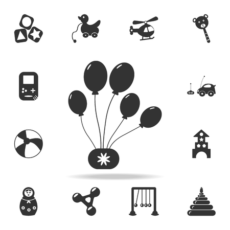 Party balloons icon. Detailed set of baby toys icons. Premium quality graphic design. One of the collection icons for websites, web design, mobile app on white background