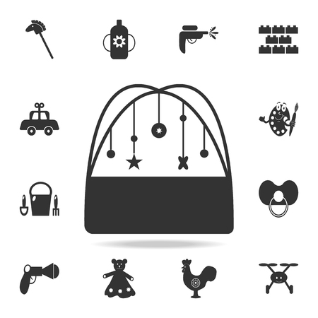 Children's diapers, a toy over the crib icon. Detailed set of baby toys icons. Premium quality graphic design. One of the collection icons for websites, web design, mobile app on white background
