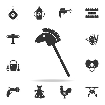 Horse stick silhouette toy icon. Detailed set of baby toys icons. Premium quality graphic design. One of the collection icons for websites, web design, mobile app on white background