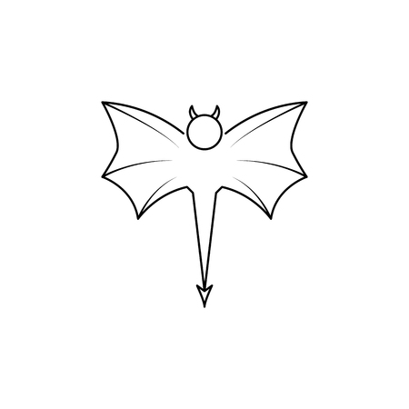 daemon icon. Element of angel and demon icon for mobile concept and web apps. Thin line  icon for website design and development, app development. Premium icon on white background Illustration
