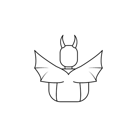 demon from the back icon. Element of angel and demon icon for mobile concept and web apps. Thin line  icon for website design and development, app development. Premium icon on white background