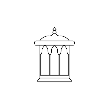 alcove icon. Element of Arab culture icon for mobile concept and web apps. Thin line  icon for website design and development, app development. Premium icon on white background