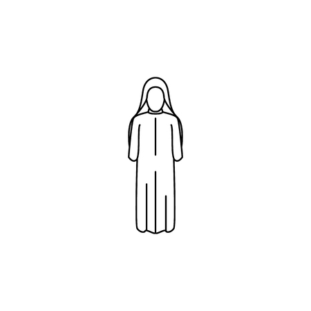 woman arabic icon. Element of Arab culture icon for mobile concept and web apps. Thin line  icon for website design and development, app development. Premium icon on white background Illustration