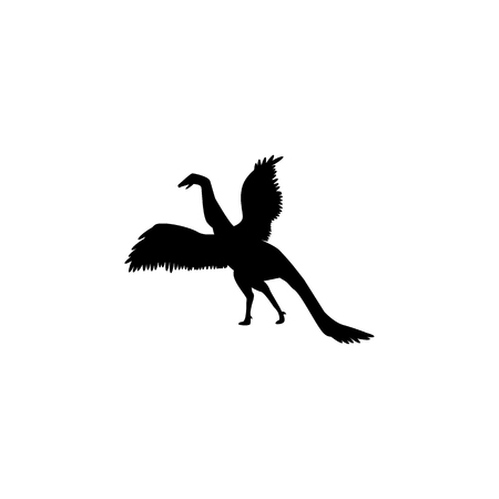 Archaeopteryx icon. Elements of dinosaur icon. Premium quality graphic design. Signs and symbol collection icon for websites, web design, mobile app, info graphics on white background