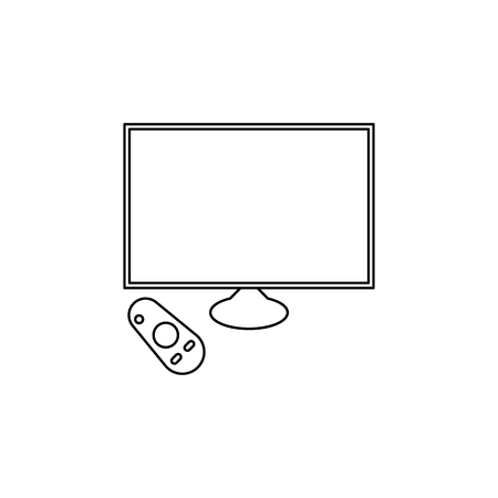 generation of smart TVs icon. Element of generation icon for mobile concept and web apps. Thin line  icon for website design and development, app development. Premium icon on white background