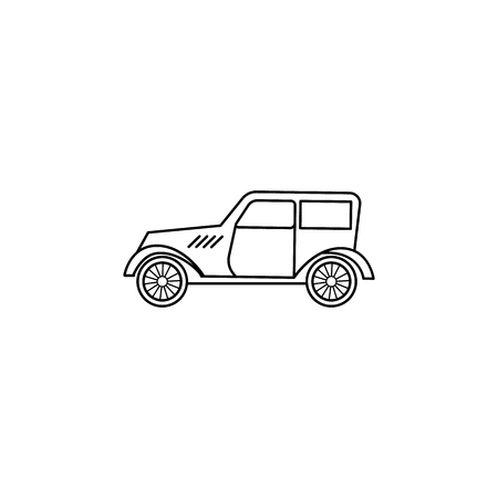 cars of the forties icon. Element of generation icon for mobile concept and web apps. Thin line icon for website design and development, app development. Premium icon on white background Illusztráció