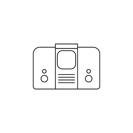 Generation of televisions with acoustics icon. Element of generation icon for mobile concept and web apps. Thin line icon for website design and development, app development on white background