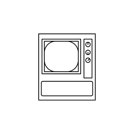Multi-channel TV icon. Element of generation icon for mobile concept and web apps. Thin line icon for website design and development, app development. Premium icon on white background