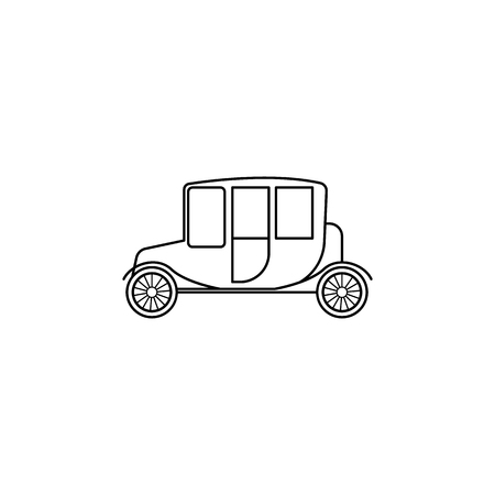 Car chaise icon. Element of generation icon for mobile concept and web apps. Thin line icon for website design and development, app development. Premium icon on white background