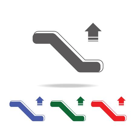 Escalator Down Icon. Elements Of Airport Multi Colored Icons. Premium  Quality Graphic Design Icon