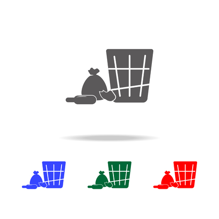 Shopping icon. Elements of human weakness and addiction multi colored icons. Premium quality graphic design icon. Simple icon for websites, web design, mobile app on white background
