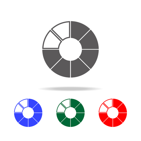 a circle Pie Chart icon. Elements of chart and trend diagram multi colored icons. Premium quality graphic design icon. Simple icon for websites, web design, mobile app on white background