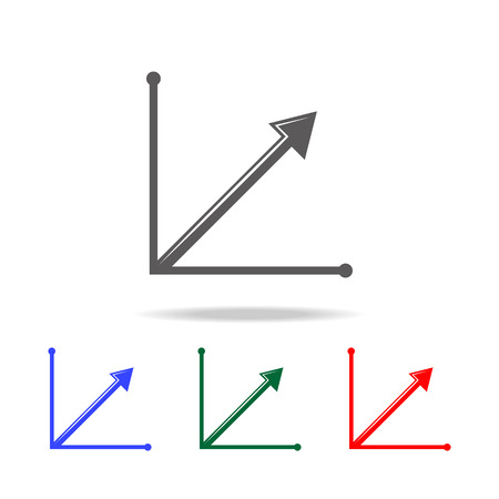 steady growth arrow chart icon. Elements of chart and trend diagram multi colored icons. Premium quality graphic design icon. Simple icon for websites, web design, mobile app on white background