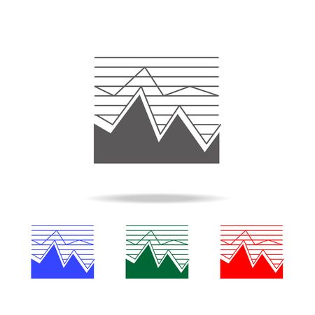 Area chart icon. Elements of chart and trend diagram multi colored icons. Premium quality graphic design icon. Simple icon for websites, web design, mobile app, info graphics on white background. Ilustração