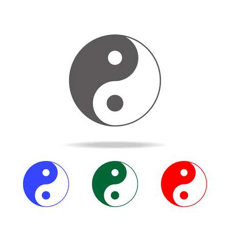 Yin Yang icon. Elements of Chinese culture multi colored icons. Premium quality graphic design icon. Simple icon for websites, web design, mobile app, info graphics on white background
