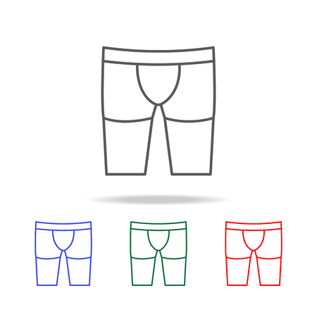Men briefs boxers  icon. Elements of human body part multi colored icons. Premium quality graphic design icon. Simple icon for websites, web design, mobile app, info graphics on white background