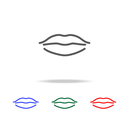 Woman lips line  icon. Elements of human body part multi colored icons. Premium quality graphic design icon. Simple icon for websites, web design, mobile app, info graphics on white background Stock Illustratie