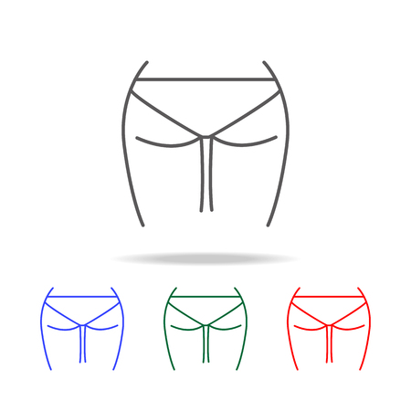 female buttocks icon. Elements of human body part multi colored icons. Premium quality graphic design icon. Simple icon for websites, web design, mobile app, info graphics on white background