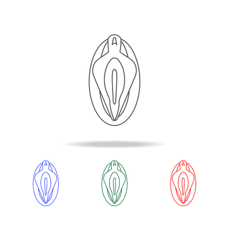 Vagina line  icon. Elements of human body part multi colored icons. Premium quality graphic design icon. Simple icon for websites, web design, mobile app, info graphics on white background Illustration
