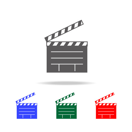The directors cracker icon. Elements of cinema and filmography multi colored icons. Premium quality graphic design icon. Simple icon for websites, web design, mobile app on white background Çizim