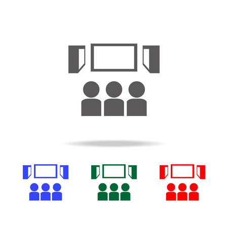 Viewers in the cinema icon. Elements of cinema and filmography multi colored icons.quality graphic design icon. Simple icon for websites, web design, mobile app on white background