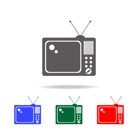 TV icon. Elements of cinema and filmography multi colored icons.quality graphic design icon. Simple icon for websites, web design, mobile app, info graphics on white background Illustration