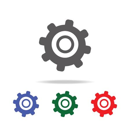 Tandrad pictogram. Elementen van bouwgereedschap multi gekleurde pictogrammen. Premium kwaliteit grafisch ontwerp pictogram. Eenvoudig pictogram op witte achtergrond. Stockfoto - 99142251