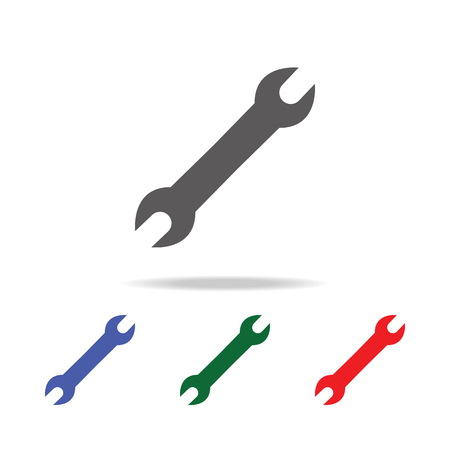 Spanner Icon. Elements of construction tools multi colored icons. Premium quality graphic design icon. Simple icon on white background. Çizim