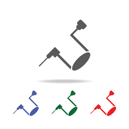 Hand drill icon. Elements of construction tools multi colored icons. Premium quality graphic design icon. Simple icon on white background.