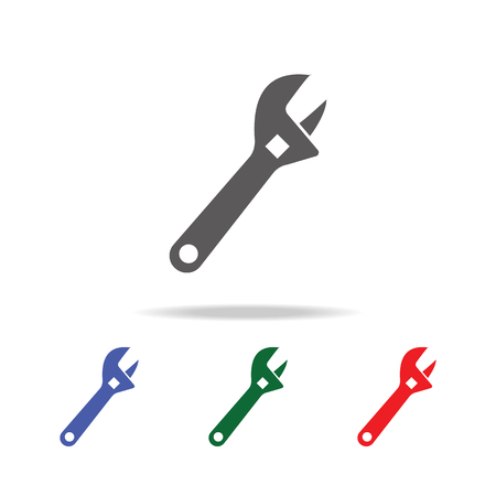 Pipe wrench icon. Elements of construction tools multi colored icons. Premium quality graphic design icon. Simple icon on white background.