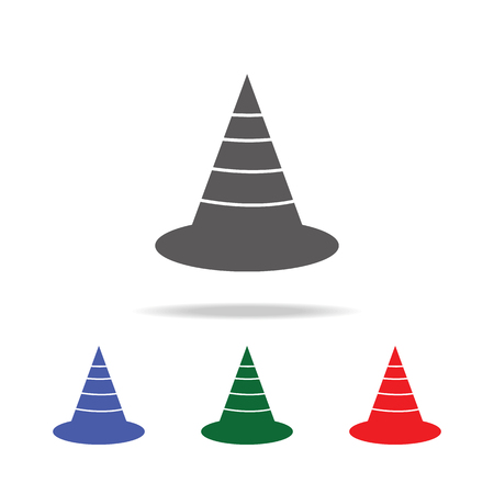 The traffic cone icon. Elements of construction tools multi colored icons. Premium quality graphic design icon. Simple icon on white background. Illustration