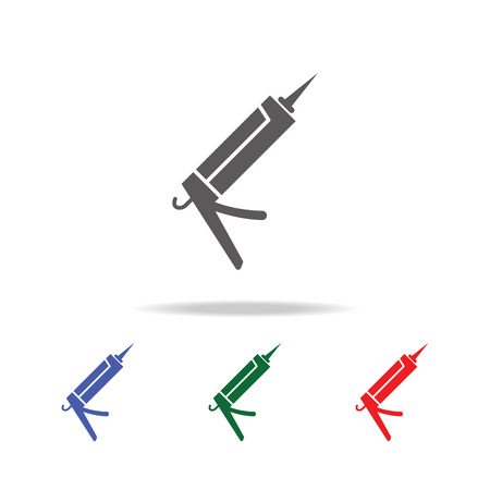 Glue gun Icon. Elements of construction tools multi colored icons. Premium quality graphic design icon. Simple icon on white background.