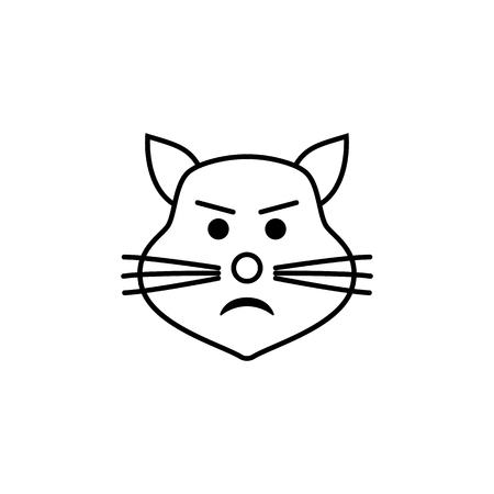 disgruntled cat icon. Detailed set of avatars of professions icons. Premium quality line graphic design. One of the collection icons for websites, web design, mobile app on white background