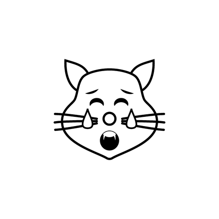 tired cat icon. Detailed set of avatars of professions icons. Premium quality line graphic design. One of the collection icons for websites, web design, mobile app on white background