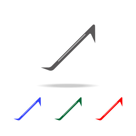 Crowbar icon. Multi-colored construction tool element