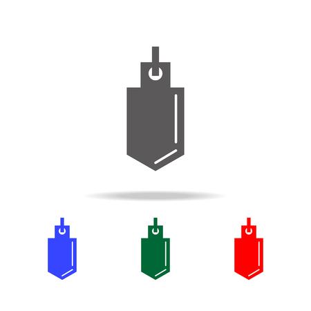 Physical pendulum icon set.