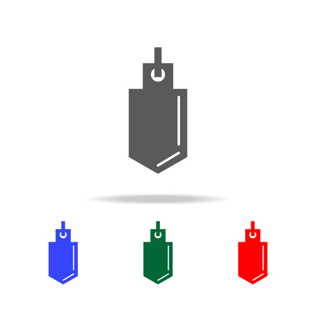 Physical pendulum icon set.