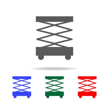 Scissors lift icon set on white background. Illustration