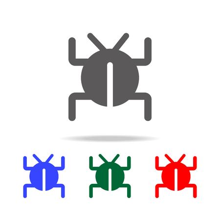 Software bug or program bug icon vector illustration set Illustration