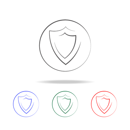 logo shield icon icon. Elements of cyber security multi colored icons. Premium quality graphic design icon. Simple icon for websites, web design, mobile app, info graphics on white background
