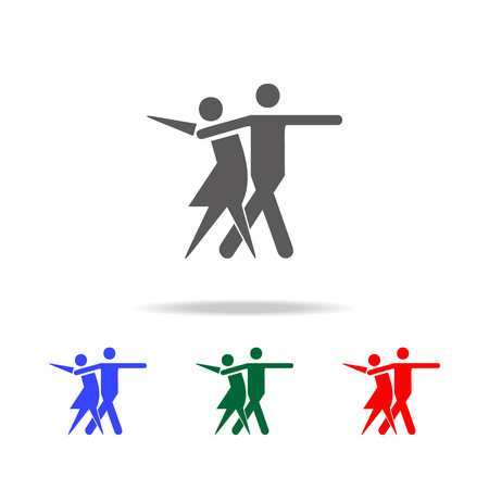 sport dance icon. Elements of dance multi colored icons. Premium quality graphic design icon. Simple icon for websites, web design, mobile app, info graphics on white background