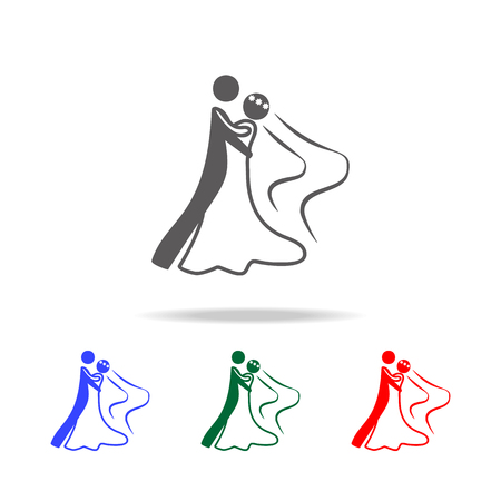 a wedding dance icon. Elements of dance multi colored icons. Premium quality graphic design icon. Simple icon for websites, web design, mobile app, info graphics on white background