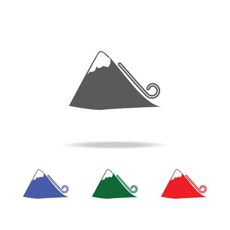 Avalanche icon vector illustration set