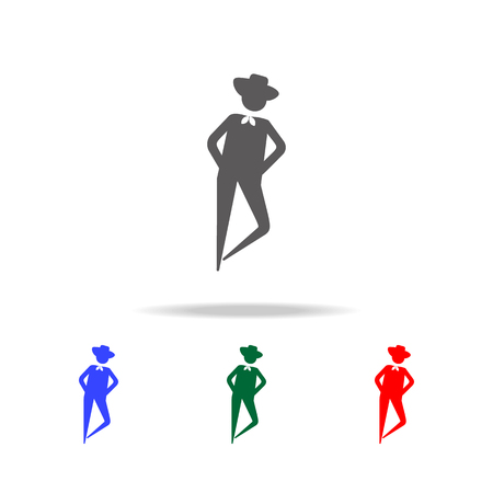 Dancing man icon vector illustration set