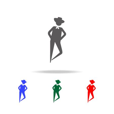 Dancing man icon vector illustration set