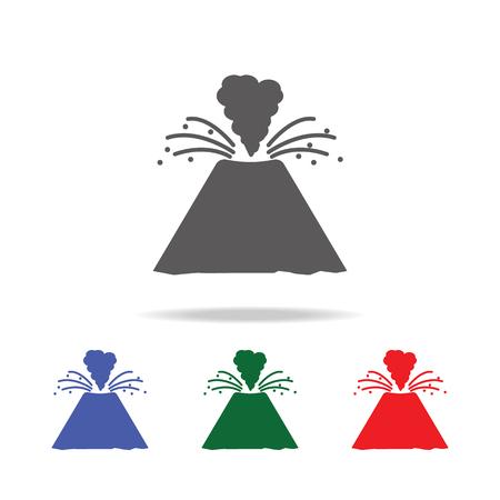 Volcano icon vector illustration set