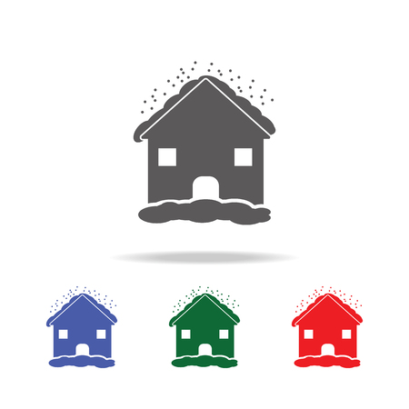 House in hailstorm con, mobile, info graphics. Elements of desister multi colored icons. Premium quality graphic design icon. Simple icon for websites, web design, mobile app on white background