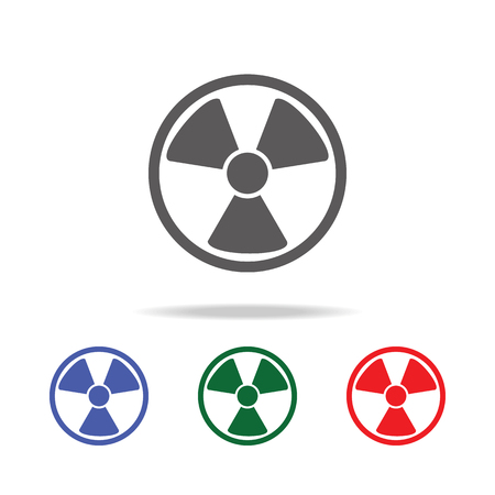 radiation symbol icon, mobile, info graphics. Elements of desister multi colored icons. Premium quality graphic design icon. Simple icon for websites, web design, mobile app on white background Illustration