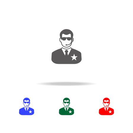 Night club security icon vector illustration set